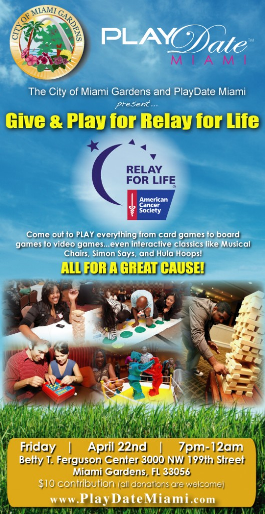 Blueprint creative group city of miami gardens playdate miami presents give play for relay for City of miami gardens